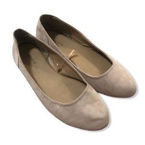 Torrid Nude Round Toe Ballet Flats—11W